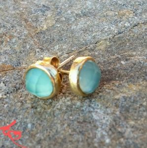 COPY - Hand-crafted Aqua Chalcedony Earrings